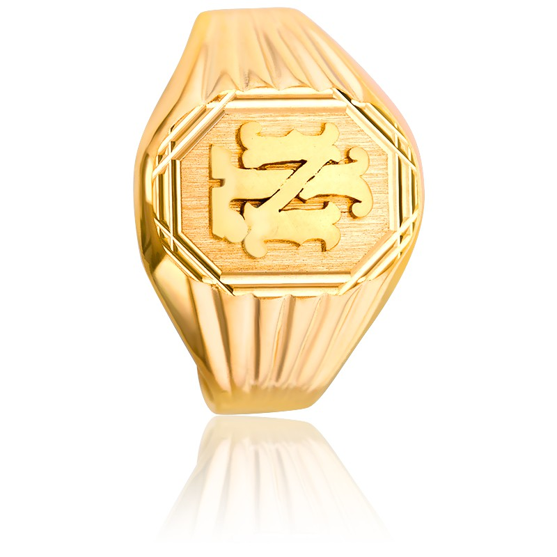 39d94e74c694 Lucas Lucor  Anillo Sello Octogonal   Letras Oro Amarillo 18K  Anillo Sello  Octogonal   Letras Oro Amarillo ...
