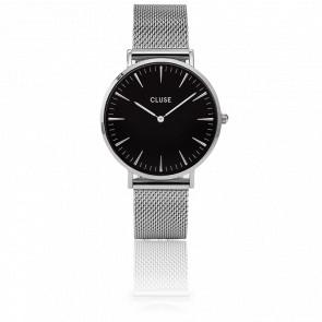 Reloj La Bohème Mesh Silver/Black CL18106