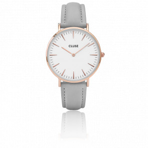 Reloj La Bohème Rose Gold White/Grey CL18015