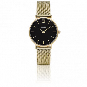 Reloj Minuit Mesh Gold Black CL30012