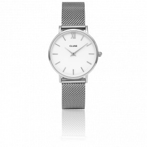 Reloj Minuit Mesh Silver White CL30009