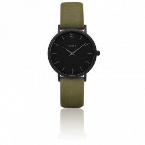 Reloj Minuit Full Black Olive Green CL30007