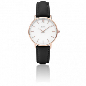 Reloj Minuit Rose Gold White Black CL30003
