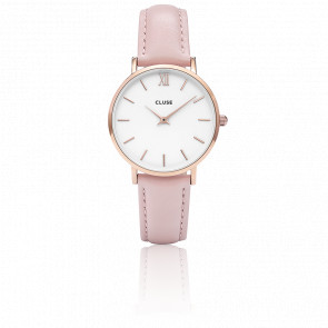 Reloj Minuit Rose Gold White Pink CL30001