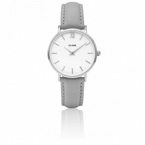 Reloj Minuit Silver White Grey CL30006