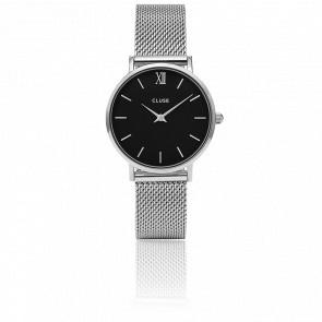 Reloj Minuit Mesh Silver Black CL30015