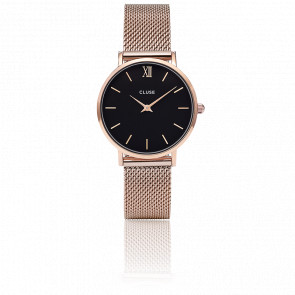 Reloj Minuit Mesh Rose Gold Black CL30016