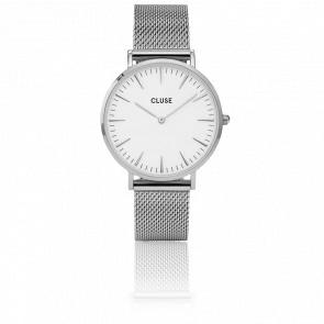 Reloj La Bohème Mesh Silver/White CL18105