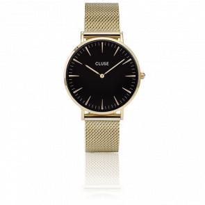 Reloj La Bohème Mesh Gold/Black CL18110