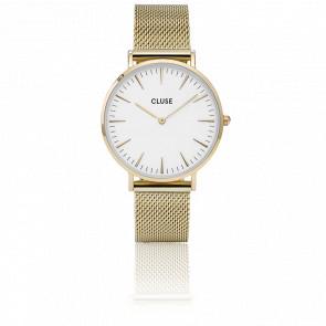 Reloj La Bohème Mesh Gold/White CL18109