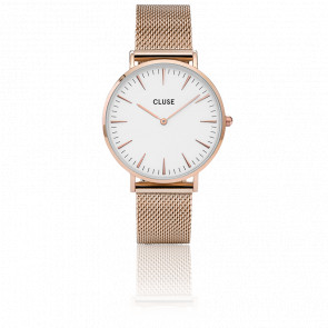 Reloj La Bohème Mesh Rose Gold/White CL18112