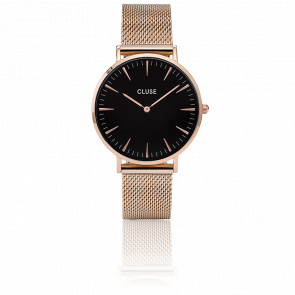Reloj La Bohème Mesh Rose Gold/Black CL18113