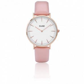 Reloj La Bohème Rose Gold White/Pink CL18014