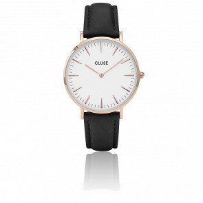 Reloj La Bohème Rose Gold White/Black CL18008