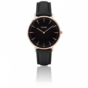Reloj La Bohème Rose Gold Black/Black CL18001