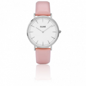 Reloj La Bohème Silver White/ Pink CL18214