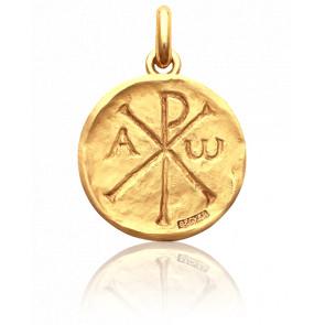 Medalla Crismón Oro Amarillo 18k