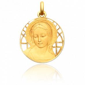 Medalla Oro Amarillo Calada, Virgen María