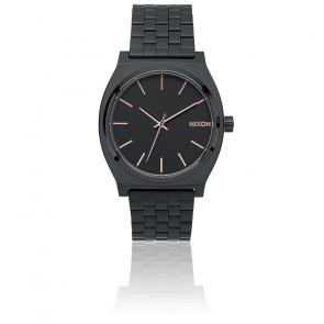 Reloj Nixon The Time Teller All Black / Rose Gold