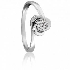 Anillo Sublime Oro Blanco 18K & Diamante