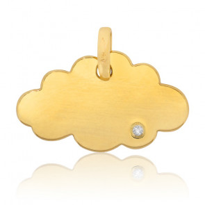 Colgante Little Cloud Oro Amarillo y Diamante