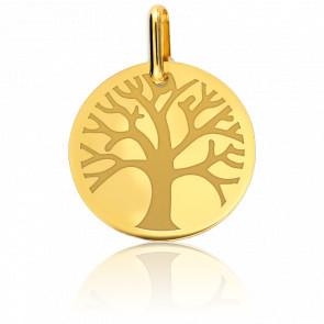 Colgante Árbol de la Vida Oro Amarillo 9 quilates diámetro 15 mm
