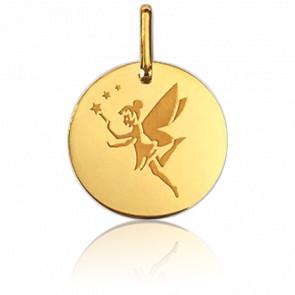 Medalla Hada Estrellas Oro Amarillo 9K