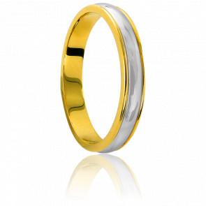 Alianza Oro bicolor de 18k con ancho de 3,2mm Saint Sulpice