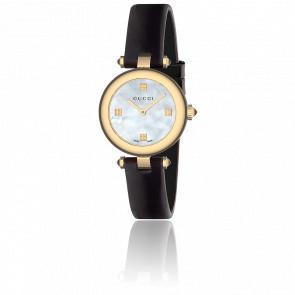 Reloj Gucci Diamantissima Esfera Nacre Blanca 27mm Cuero YA141505