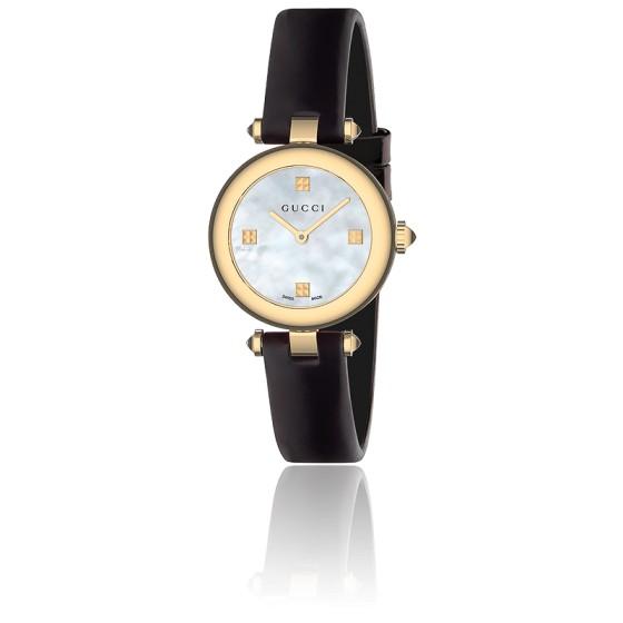 85ca268d91 Reloj Gucci Diamantissima Esfera Nacre Blanca 27mm Cuero YA141505