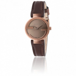 Reloj Gucci Interlocking Esfera Marrón 29 mm Cuero YA133504