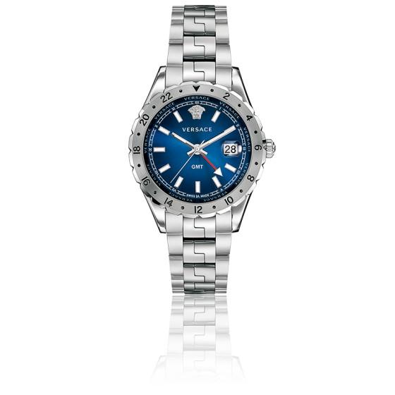 40ba5688eb8e En Stock Reloj Versace Hellenyium GMT Esfera Azul 42mm V1101 0015