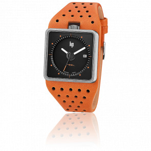 Reloj Big TV Chrome Black Dial 671136 Cuero Naranja