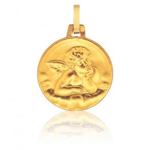 Medalla redonda Ángel de Rafael, Oro amarillo