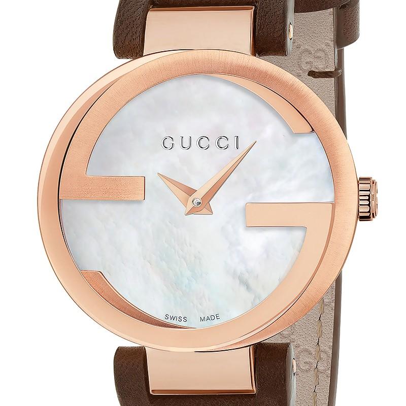 5b6a4041ae ... Reloj Gucci Interlocking Esfera Nácar 29 mm Cuero YA133516 ...