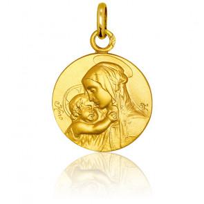 Medalla Oro Amarillo 9k Madona