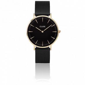 Reloj La Bohème Mesh Gold Black/Black CL18117