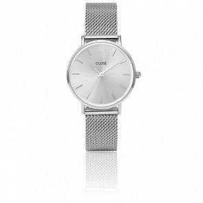 Reloj Minuit Mesh Full Silver CL30023