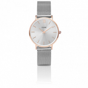 Reloj Minuit Mesh Rose Gold/Silver CL30025