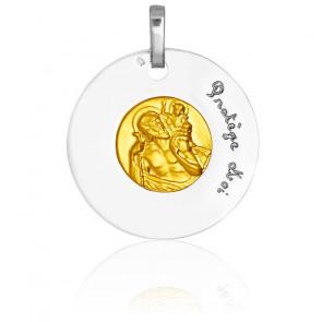 Medalla bicolor San Cristóbal