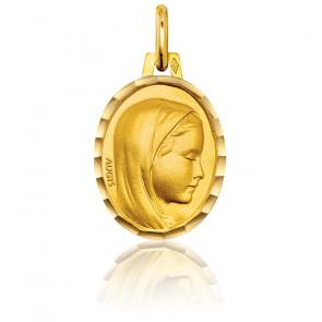 Medalla Virgen María ovalada perfil