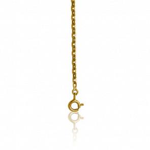 Cadena forzada brillante oro amarillo 9K y 40 cm de largo