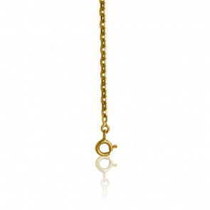 Cadena Forzada Brillante 50 cm Oro Amarillo