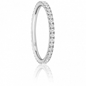 Anillo Eternity Oro Blanco con Diamantes