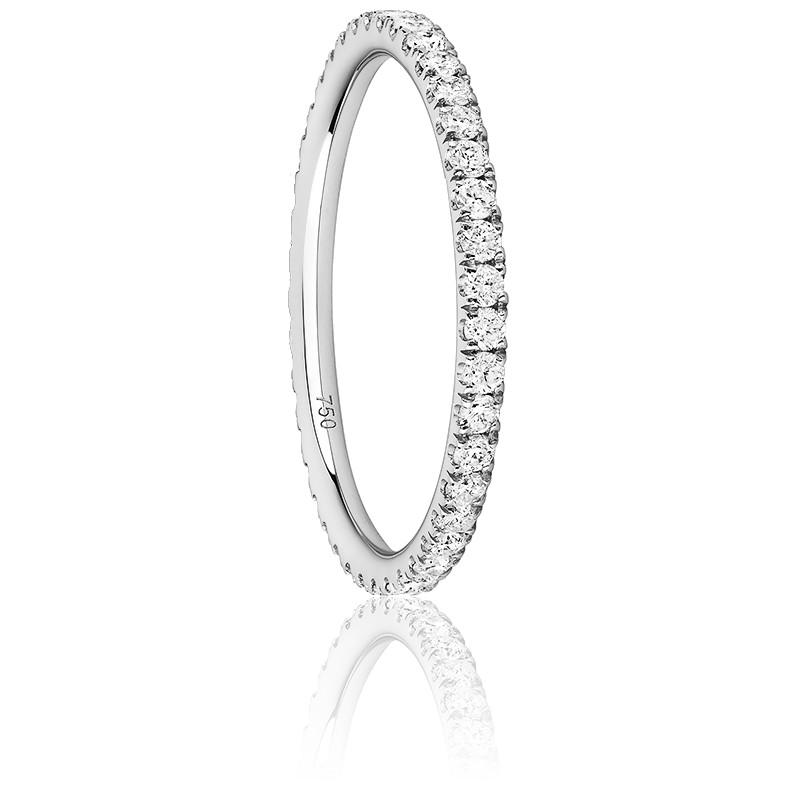 Anillo Eternity Oro Blanco con Diamantes