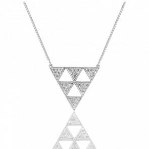 Collar XL Arrow Plata & Circonitas