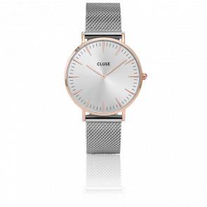 Reloj La Bohème Mesh Rose Gold/Silver CL18116