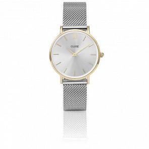 Reloj Minuit Mesh Gold/Silver CL30024