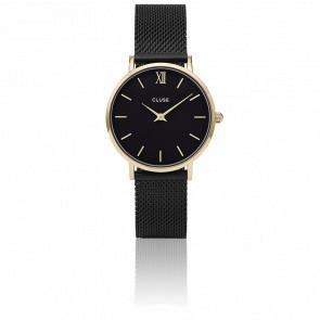 Reloj Minuit Mesh Gold Black/Black CL30026