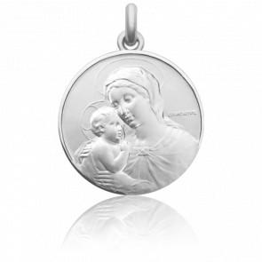 Medalla de Cuna de Plata: Virgen María y Niño Jesús